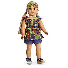 American Girl JULIE Doll Summer Patchwork Outfit, New, Retired clothes(no doll) American Girl Doll Julie, American Girl Clothes, American Girls, Ag Doll Clothes, Doll Clothes Patterns, Spring Outfits, Girl Outfits, Bitty Baby, New Dolls