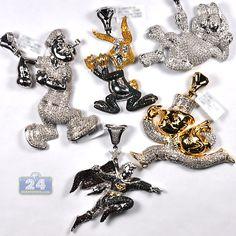 Mens diamond framed cross pendant 10k yellow gold 019 ct cartoon time watch cartoon movie characters famous celebs aloadofball Gallery