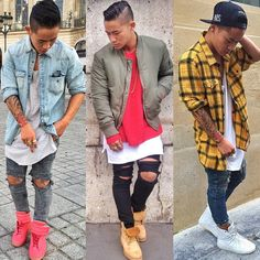 Would rock all three like a boss. Don't lie like you wouldn't. Follow Pinterest: Junior D-Martin❤