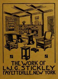 The Work of L. Stickley, Furniture Catalog, c. Craftsman Style Furniture, Craftsman Interior, Craftsman Style Homes, Craftsman Houses, Craftsman Trim, Arts And Crafts Furniture, Diy Arts And Crafts, Bauhaus, Memphis