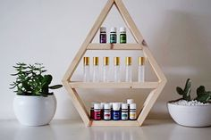 Minis Collection Essential Oil Storage Hexagon by WoodAndOils Essential Oil Storage, Essential Oils, Doterra, Wood Storage Rack, Storage Shelves, Natural Cleaning Products, Room Organization, Young Living, Cleaning Hacks