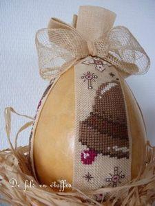 Oeuf de Pâques sur son nid