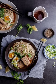 A simple bowl of unctuous roasted pork belly with noodles in a deeply flavourful broth.