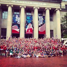 USC DZ American Themed Bid Day #deltazeta