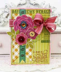 So Many Smiles Card by Melissa Phillips for Papertrey Ink (June 2012)