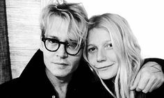 Make-up free Gwyneth Paltrow snuggles on-screen husband Johnny Depp