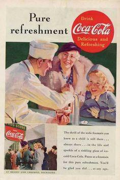 Pure refreshment - Coca Cola Ad from 1937