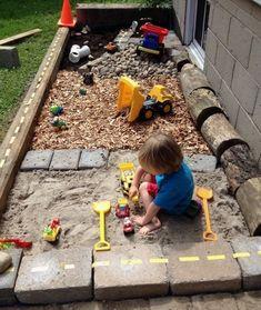 Süße Idee für den Garten l Spielplatz l Sandkiste bauen l DIY rund ums Kind Sweet idea for the garden l Playground l Sandbox l DIY around the child – build