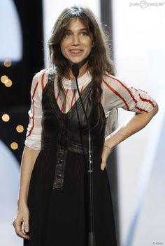 Charlotte Gainsbourg lors du gala de clôture du 62e Festival du Film de San Sebastian, le 27...