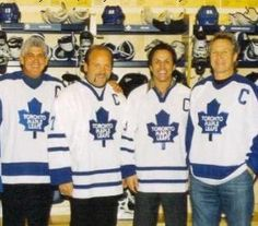 Former greats and former captains all Maple Leafs Hockey, Hockey Baby, Toronto Maple Leafs, Canada, Leaves, Fan, Sports Teams, Man Cave, Cheer