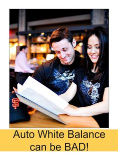 Auto white balance is not always the best thing to use when taking photos.  Read when to NOT use auto white balance!