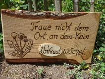 Garten-Zitat-Unkraut