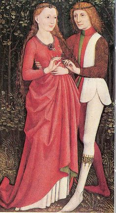 The Lovers c.1470  From 'A History of Costume in the West' by Francois Boucher. pub Thames and Hudson pg 214. Swaibian school: The Lovers.. ...