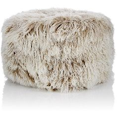 Barneys New York Tibetan Lamb Fur Round Ottoman ($1,395) ❤ liked on Polyvore featuring home, furniture, ottomans, round ottoman, fur ottoman, circular ottoman, round footstool and round furniture