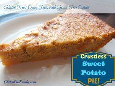 Crustless Sweet Potato Pie {Gluten-Free, Dairy-Free, with Grain-Free Option} from Gluten-Free Easily