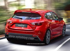 Early mockup of the upcoming Mazdaspeed3. 100x better looking than its predecessor! #hothatch