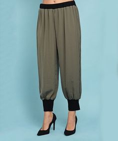 Another great find on #zulily! Green Harem Pants - Women & Plus #zulilyfinds