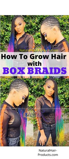 You want to grow hair with box braids, right?  It feels good to get a lil' break from your hair AND grow more length, ya know? The step-by-step instructions in this tutorial have helped:  1000's of naturalistas who wanted faster growth and length retention...  ...grow their hair half-way down their backs.  You want to get it poppin' like that?  Then simply LEARN NOW and DO what I show you.   Easy:  In today's article I show you exactly how to get your results faster and...