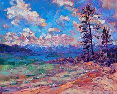 Tahoe Color - Erin Hanson Prints - Buy Contemporary Impressionism Fine Art Prints Artist Direct from The Erin Hanson Gallery Landscape Art, Landscape Paintings, Landscapes, Painting Inspiration, Art Inspo, Modern Impressionism, Impressionist Paintings, Art And Illustration, Ciel