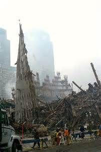 Aftermath of the World Trade Center Collapsing on September 11, 2001