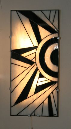 mary lu winger stained glass fireplace screen modern art. Black Bedroom Furniture Sets. Home Design Ideas