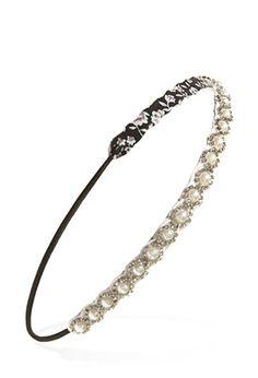 Faux Pearl & Rhinestone Headband | Forever 21 - 1000056570