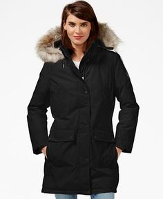 Calvin Klein Faux-Fur-Trim Water-Resistant Parka - Coats - Women - Macy's