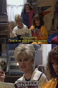 absolutely fabulous I really miss this show Absolutely Fabulous Quotes, Patsy And Eddie, You Funny, Hilarious, Funny Stuff, Best Tv, The Best, Ok Kid, Patsy Stone