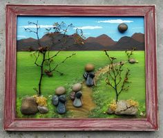 Check out this item in my Etsy shop https://www.etsy.com/listing/228270108/pebble-art-rock-art-hiking-mountains