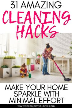 Want to make your home clean with less time? Try these amazing cleaning hacks for cleaning your home efficiently! You'll be amazed at how easily you can tackle tough jobs with these great cleaning ideas Cleaning Blinds, House Cleaning Tips, Cleaning Hacks, Cleaning Checklist, Cleaning Schedules, Deep Cleaning, Weekly Cleaning, Spring Cleaning, Parenting Advice