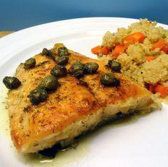 Salmon Piccata Style