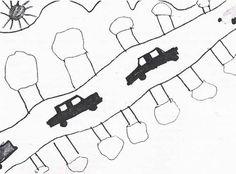 Ästhetisches Verhalten von Kindern und Jugendlichen - Raumdarstellung Kid Drawings, Art Education Resources, Young Adults, School, Handarbeit