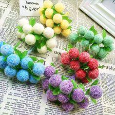 10 PCS (10 cm/faisceau) simulation de fleur artificielle bouquets de peluches balle bulle/décoration de la maison de noël de mariage DIY produits