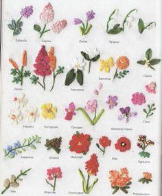 вышиваем цветы лентами
