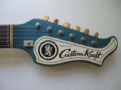 Vintage 1960s Kay Custom Kraft Guitar