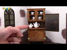 DIY Dollhouse items - Miniature Cupboard ミニチュアカップボード作り - YouTube