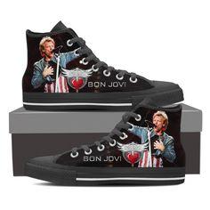 Bon Jovi Women Black High Top – shoppila