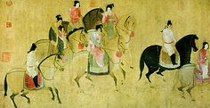 Spring Outing of the Tang Court, by Zhang Xuan (713-755 AD)