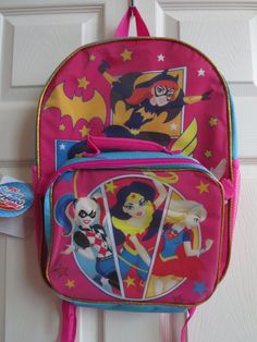 9ab1a913a884 DC Trios Wonder Woman Super Hero Girls BACKPACK detachable lunch bag 16  inches