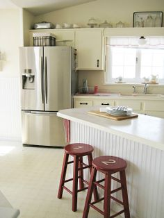 Happy At Home: Search results for kitchen--bead board on the island