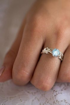 Vintage Style Our floral Aquamarine and Diamonds boho engagement ring is inspired by the French period. This vintage style engagement ring will not only sparkle your imagination, it will perfectly capture the love you are unable to express using words. Boho Engagement Ring, Vintage Style Engagement Rings, Classic Engagement Rings, Platinum Engagement Rings, Perfect Engagement Ring, Wedding Engagement, Unique Rings, Stylish Rings, Unique Necklaces