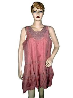 Womens Lace Tank Top Pink Cotton Boho Dressy « Clothing Impulse