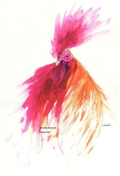"""SALSA is a Fine art print from my original watercolor. FARM ANIMALS WITH A WATERCOLOR """"ART-itude"""""""
