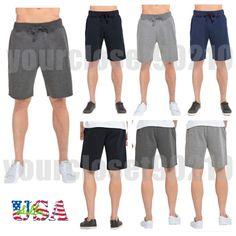 Men's Gym Shorts Fleece Fashion Shorts Casual Sports Jogger Workout Basic Shorts #MensFashionShorts