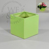 Buy Light Green Ceramic Cube at the best wholesale prices. Check this and more Ceramic & Clay Containers for cheap & with national shipping. Wholesale Flowers And Supplies, Wholesale Vases, Ceramic Flower Pots, Planters, Container, Clay, Ceramics, Clays, Ceramica