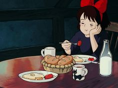anime and kiki's delivery service Studio Ghibli Films, Studio Ghibli Art, Kiki Delivery, Kiki's Delivery Service, Hayao Miyazaki, Anime Gifts, Anime Scenery, Cute Gif, Aesthetic Anime