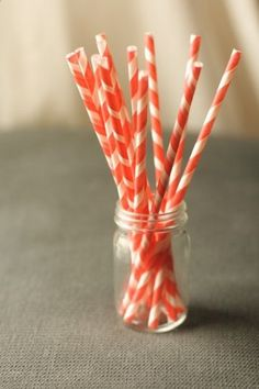Love these stripey paper straws!