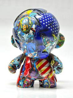 CAPTAIN AMERICA   MUNNY by VISEone , via Behance