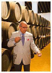"Winemaker Antonio Flores from Tio Pepe - a legend. He calls TP ""la luz de Andalucia embotellada"" (Andalucian light in a bottle)."