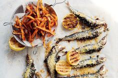 sardine fish fry mathi chala fry served with sweet potato fries these sardines stuffed with kale pine nuts and raisins forumfinder Images